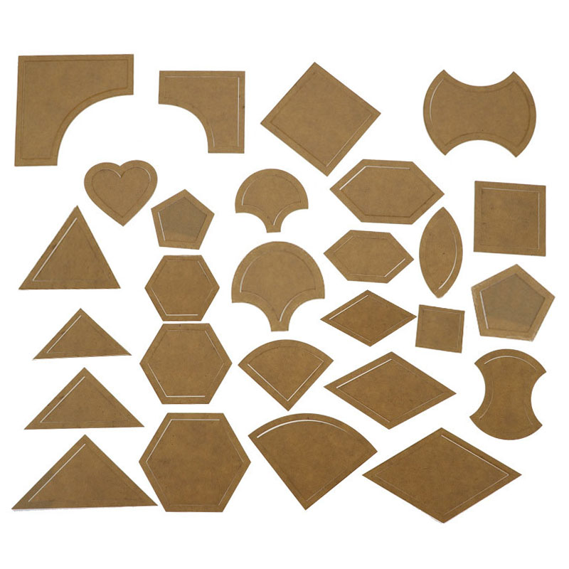 54 Pcs Set Handmade Mixed Quilt Templates Acrylic Stencil Tool Reusable Clear Acrylic Pattern Stencil Template Set DIY Tool for Leather Craft Quilting Sewing Tool