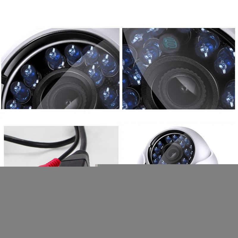 HD Jaringan Outdoor Indoor IRC 24 LED Inframerah Malam Visi ONVIF P2P CMS Xmeye Dome Tahan Air Kamera 720P 1080P H.264 +/H.265