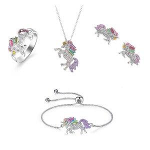 Cute Unicorn Necklace Fashion