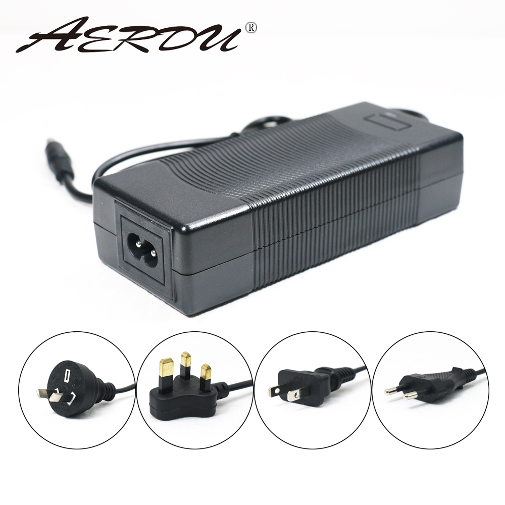 AERDU 7S 29,4 V 4A 24v литий-ионный аккумулятор зарядное устройство Настольный Тип Быстрый адаптер питания ЕС/США/Австралия/Великобритания AC DC 5521