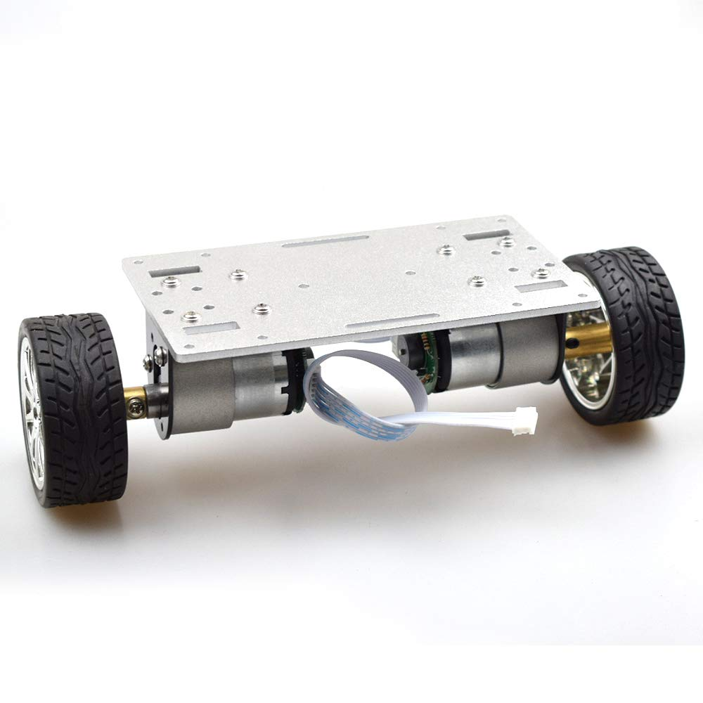 2WD DIY Self-balancing Robot Kit with 2pcs Enocder Motor Metal Plate Car Chassis Frame Mini Two-drive 2 Wheels Technology Toys