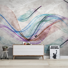 Modern 3D Abstract Line Retro Feather Mural Wallpaper Living Room Bedroom Art Home Decor Wall Stickers PVC Self-Adhesive Poster modern 3d art effect football flame mural wall papers home decor 3d living room bedroom door sticker pvc self adhesive mural