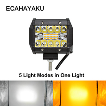 ECAHAYAKU 4 inch LED Bar LED Work Light Bar 60W for Driving Offroad Boat Car Tractor Truck fog driving light 4x4 SUV ATV 12V 24V weketory 4 36 inch led bar led light bar for car tractor boat offroad off road 4wd 4x4 truck suv atv driving 12v 24v