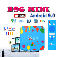 TV Box H96 Mini Android 9.0 tv set top box 4GB RAM 128GB ROM Allwinner H6 Quad Core 6K H.265 smart tv boxes Media Player minix neo x6 quad core android 4 4 2 google tv player w 1gb ram 8gb rom xbmc h 265 au plug