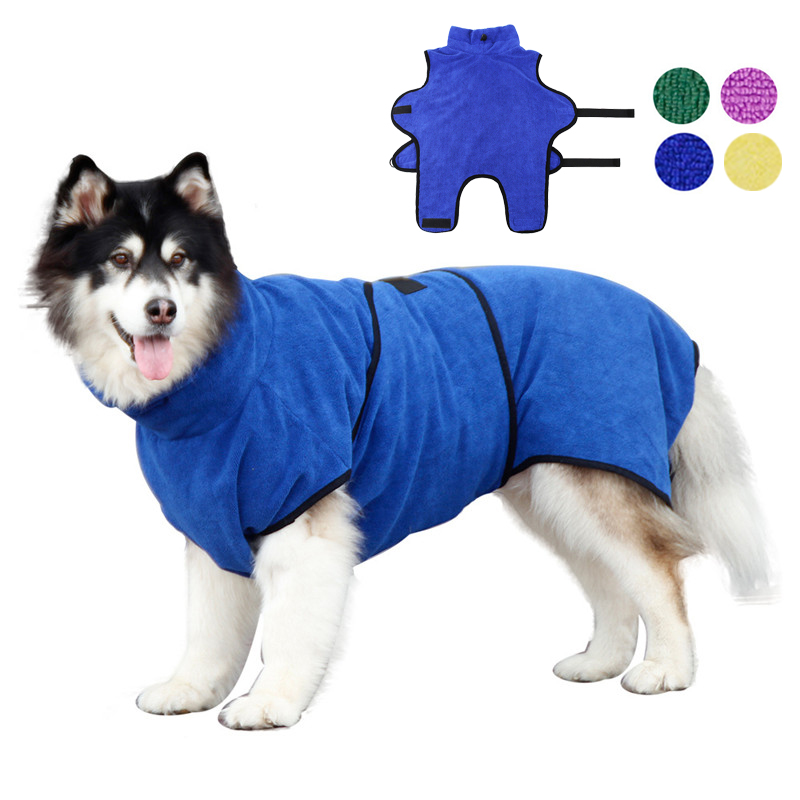 Dog Bath Robe 365g Microfiber Super Absorbent Dog Bathrobe for Cat Small and Large Dogs Quick Drying Pet Bathing Towel Warm Coat