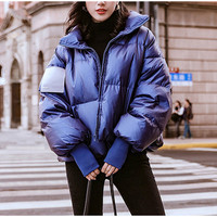 Women's Bright Waterproof Jacket Parka Winter 2019 Windproof Warm Female Jackets Padded Down Parkas Fashion Casual Women Coat