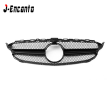 все цены на C class W205 AMG Style Bumper Front Racing Grille For Mercedes Benz C Class W205 four doors C200L C300L 2015- онлайн