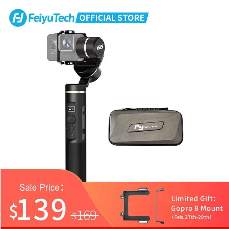 FeiyuTech G6 Handheld Gimbal Action Camera Stabilizer OLED Screen For Gopro Hero 8 7 6 5 Sony RX0 Xiao Yi 4k Splashproof
