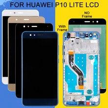 Catteny Nova Lite LCD do wyświetlacza Huawei P10 Lite z ekranem dotykowym Digitizer montaż był LX1 LX1A LX2 LX3 LCD z ramką