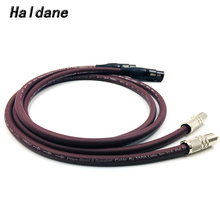 Haldane Pair Rhodium Plated 2RCA Male to 2 XLR Female Cable RCA XLR Interconnect Audio Cable with Prism OMNI 2 Wire free shipping ks 1011 xlr audio interconnect cable with rhodium plated xlr plug