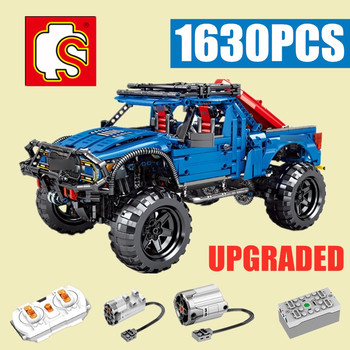 New Sembo Block RC MOTOR Classic Racing Ford F-150 Raptor Pickup Car Truck Technic City Model Building Blocks Kid Boy Gift Toy