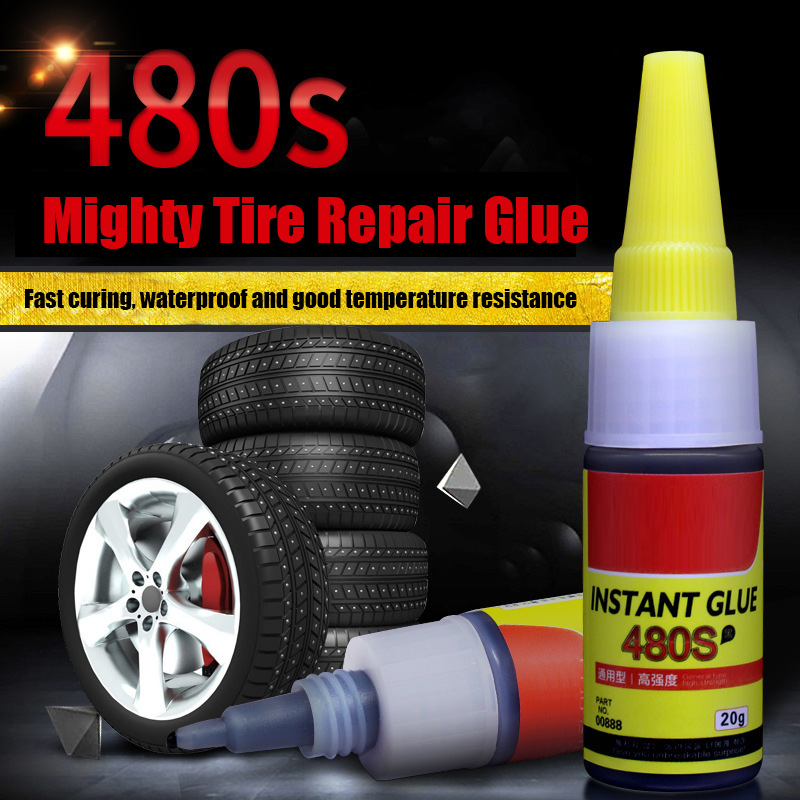 New Car Bike Tire Repair Instant Glue Inner Tube Puncture Repair Rubber Cement Glue LMH66