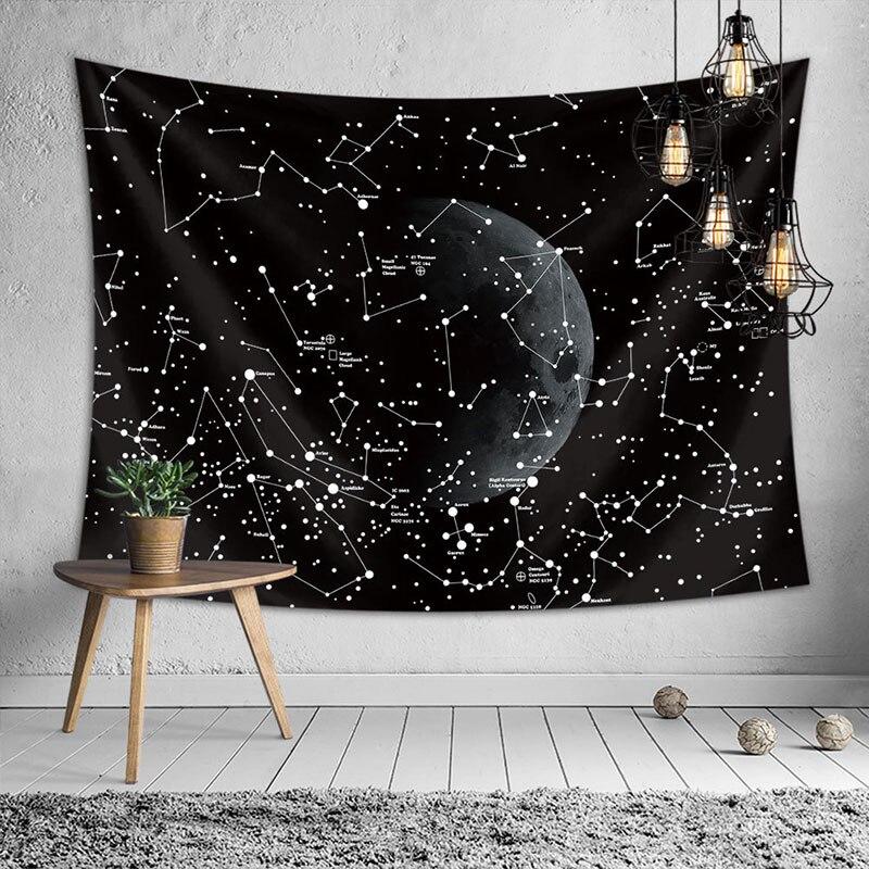 Hot pin wiszące tkaniny konstelacji gobelin drukowanie obraz na ścianę obrus ręcznik plażowy dekoracja ścienna tkanina dekoracyjna