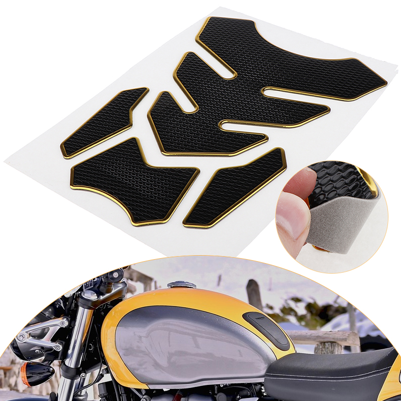 negro rojo para Honda Yamaha universal para motocicleta aspecto de carbono Protector de dep/ósito