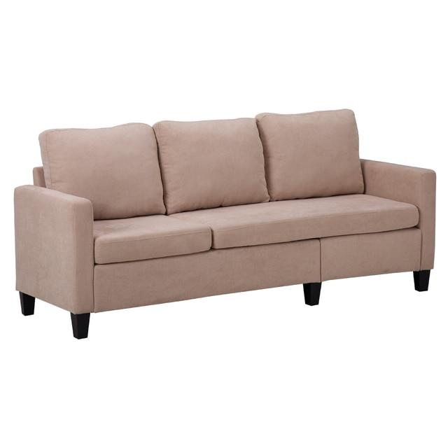 Double Chaise Longue Combination Sofa Beige Model Room Sofa Set  (194 x 126 x 89)cm for Livingroom 3