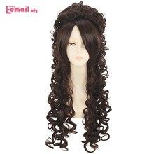 L-email парик длинные вьющиеся косплей парики 5 цветов вьющиеся черные бежевые розовые фиолетовые коричневые синтетические волосы косплей парик Хэллоуин