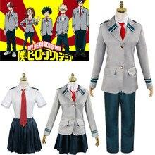 Anime My Hero Academia Boku No Midoriya Izuku Todoroki Shoto School Uniforms Cosplay Costume
