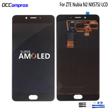 Amoled LCD For ZTE Nubia N2 NX575J LCD Display Touch Screen Digitizer For ZTE Nubia N2 Screen LCD Display Assembly Replacement стоимость