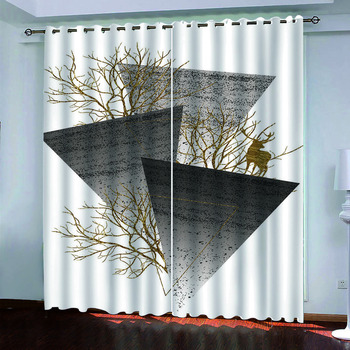 custom 2020 New home curtains Abstract modern curtains for bedroom living room 3D curtains