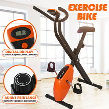 Upright Exercise Bike Stationery Folding Home Gym Fitness Cycling Bicycle Trainer Cardio Bike Indoor Sport Workout Equipment