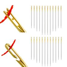Tail-Side-Opening Blind-Needle Hole Stainless-Steel Threading Hand-Sewing Elderly 12pcs/Set