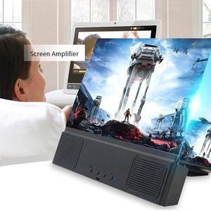 Image 4 - Universal 12 zoll 3D Telefon Bildschirm Verstärker Für iPhone Samsung Vergrößerungs Bildschirm Verstärker Handy Faltbare Steht Halter
