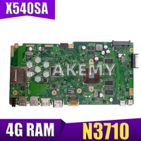 X540SA Laptop motherboard for ASUS VivoBook X540SA original mainboard 4GB RAM N3700|Placas-mães| |  -