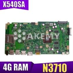 X540SA Laptop motherboard for ASUS VivoBook X540SA original mainboard 4GB RAM N3700|Płyty główne|Komputer i biuro -