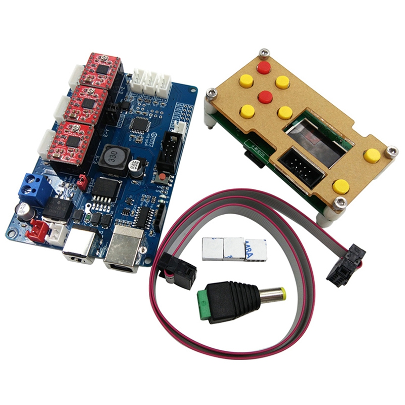 GRBL Offline Working Controller Lcd Screen+3 Axis Control Board For Engraving Machine Wood Router