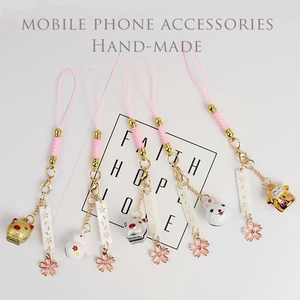 White Black P260 75mm Metaal Cute Zilver Phone Charm Strap Moon Accessoires Sleutelhanger Hanger Bedels Telefoon Koord Cresent