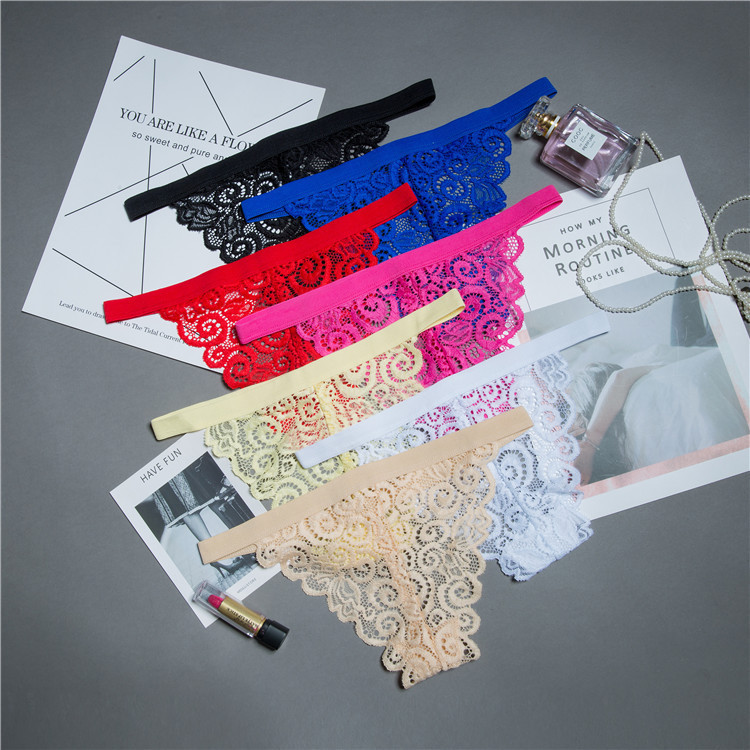 Beautiful lace leaves Women Sexy Transparent lingerie Thongs G-string Underwear Panties Briefs Ladies T-back 1pcs/Lot sf2002