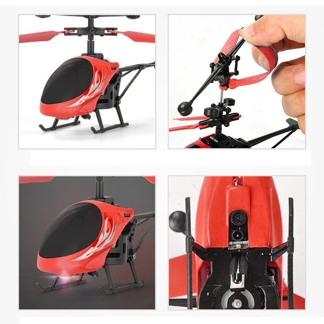 Mini RC Induction Aircraft Flashing Light Toys RC Airplanes Intelligent Hand Induction Remote Control Airplane Toy 5