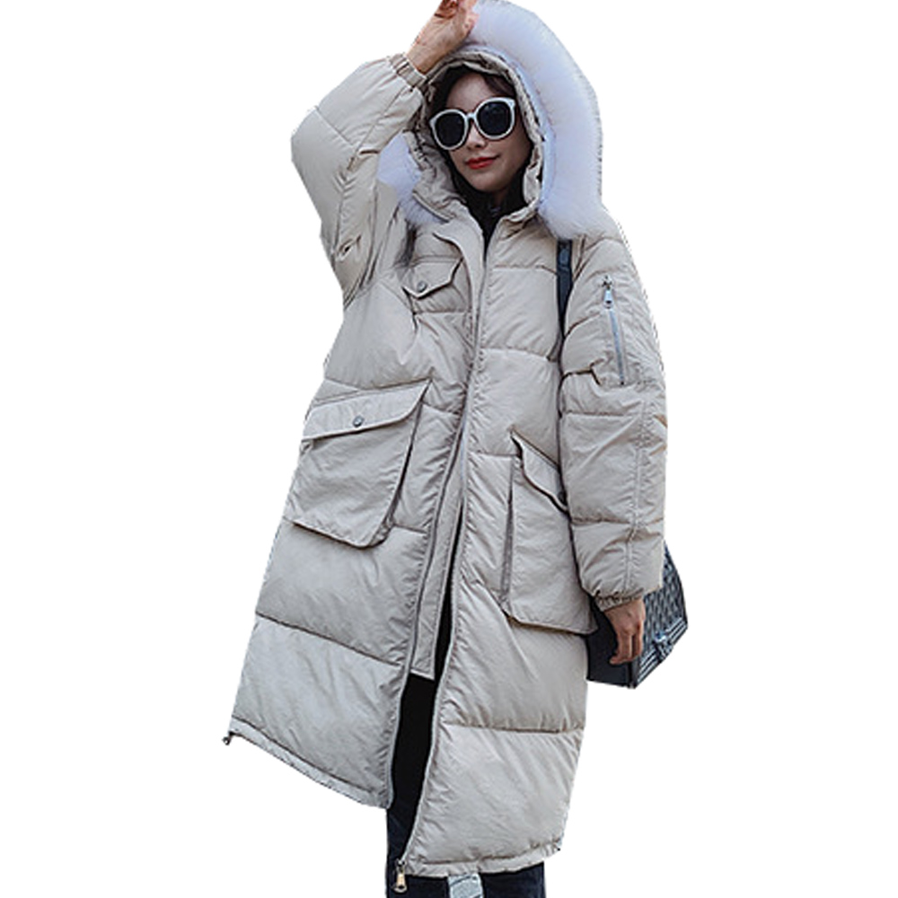 Hot sale Winter Warm Down Jacket female down jacket thick jacket large pocket jacket down   parka   women winter jacket   parka   6602
