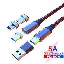 PD 100W kabel USB C na USB typu C do iphonea Samsung s20 Xiaomi Redmi MacBook Pro QC4.0 5A szybki kabel ładujący do urządzenia typu C
