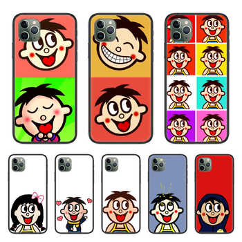 Wangzai Cute boy Phone Case cover For Iphone 11 7 8 XR 5 5C 5S 6 6S PLUS X XS PRO SE 2020 MAX black prime art coque pretty cover image