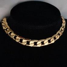 Hip Hop de los hombres de Miami cadena de eslabones cubanos collar gargantilla grueso de oro de acero inoxidable de Color cuello Collares de la joyería para las mujeres