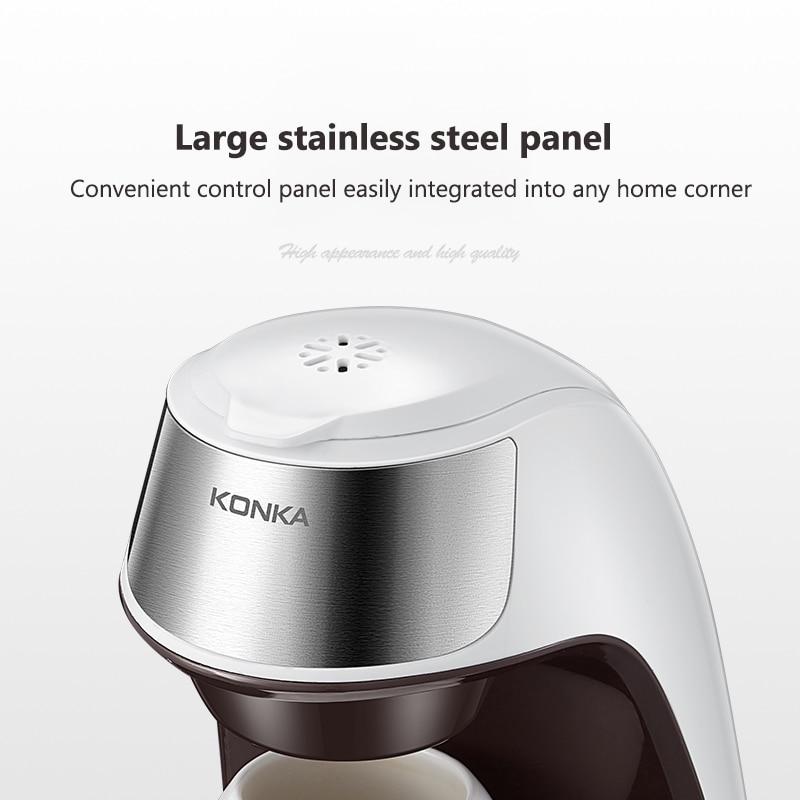 KONKA – Machine à café en céramique, automatique, spécial américain, pour la maison et le bureau, pour préparer du thé ou du café en poudre 6