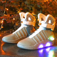 high-quality  cosplay Back To The Future Lovershigh-top lamp shoes Air Force One Luminous Shoes