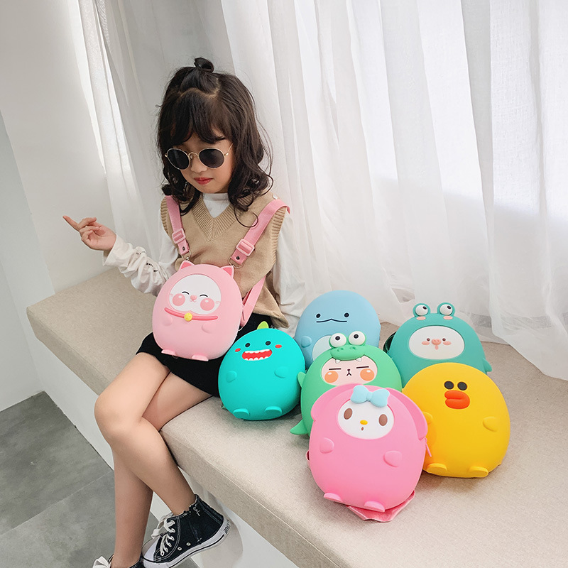 Children School Bags New Cute Anti lost Children's Backpack School Bag Backpack for Children Silicone Baby Bags Mochila Infantil|School Bags| |  - title=