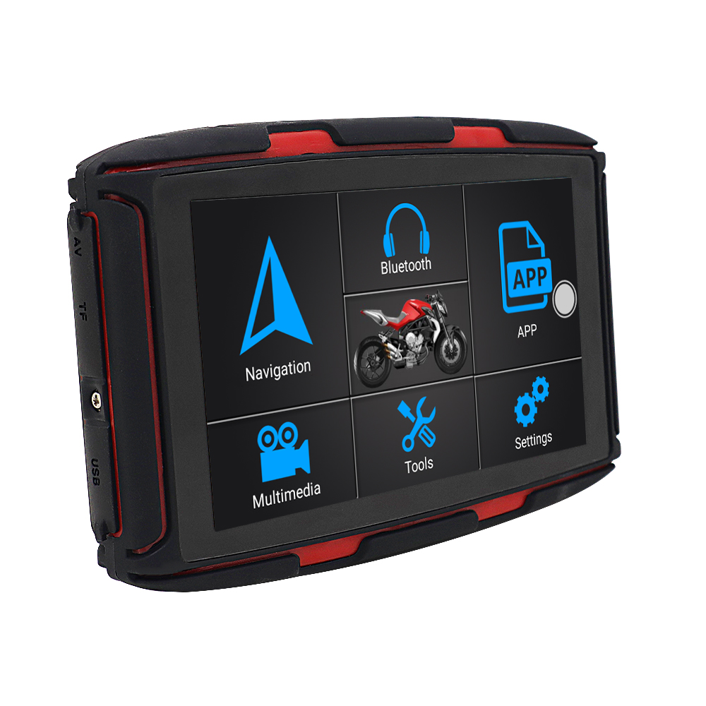 """Karadar MT-5002 navegador GPS para motocicleta 5 """"Android 6,0 Ram1G Rom16GB con Motor IPX7 impermeable, navegación GPS, actualización de mapa gratis"""