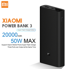 Xiaomi Original 20000mAh Power Bank 3 50W Max Super Fast Fla