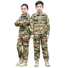 Suit-Set Scounts Military-Suits Multicam-Uniforms/kids Frog Tactical CP Cp/teenager New