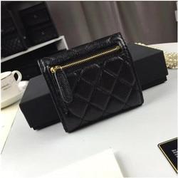Luxury Quilted Wallet Women ID Card Holder Ladies Zipper Coin Purses Slim Wallets money bag carpeta mens wallet leather genuine