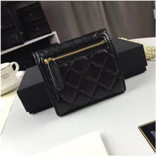 Luxury Quilted Wallet Women ID Card Holder Ladies Zipper Coin Purses Slim