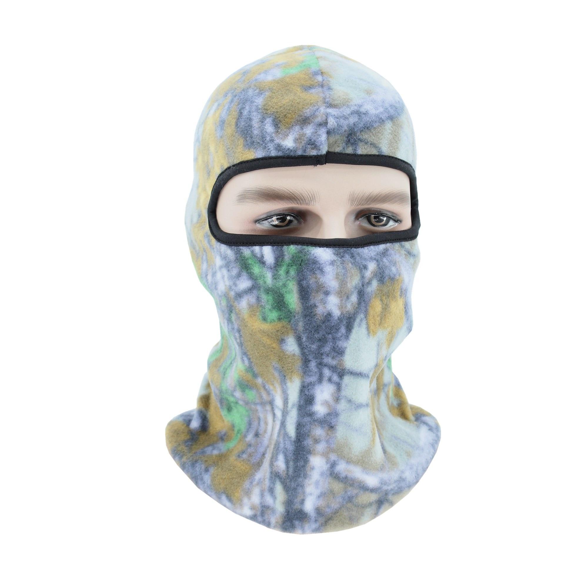 Зимние теплые флисовые шапки для мужчин камуфляж головной убор с манишкой Балаклава маска для лица Wargame спецназ маска