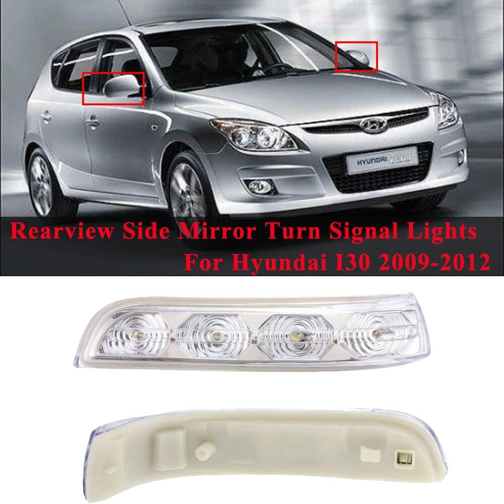 Auto Rück Seite Spiegel LED Blinker Links & Rechts Seite Flügel Umkehr Anzeige Lampe Für Hyundai I30 2009-2012
