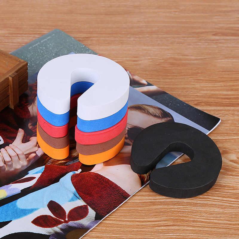 1 Pc Eva C Shape Veiligheid Kabinet Sloten Deur Clip Baby Veiligheid Sloten Kinderen Bescherming Kids Finger Safe Soft Foam deur Stopper