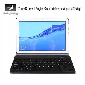 Image 2 - Tây Ban Nha Bàn Phím Dành Cho Máy Tính Bảng Huawei Mediapad T5 10 10.1 AGS2 L09 AGS2 W09 AGS2 L03 Dành Cho Huawei T5 10.1 Bàn Phím Funda