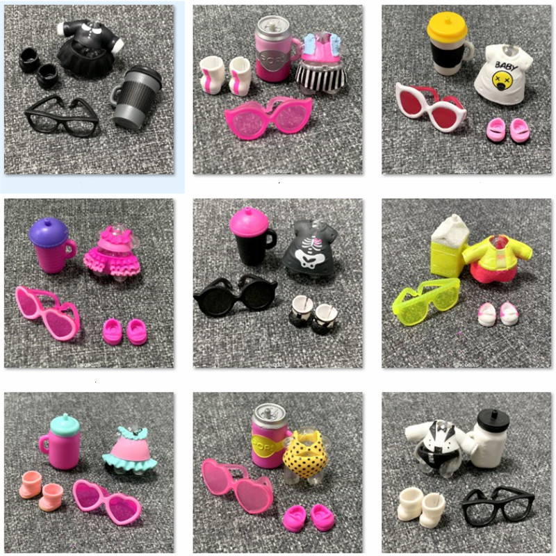 LOL Doll Clothes Bottle Shoes Glasses Accessorries Set Original Lol Accessories On Sale LOL Dolls Gift Limited Collection