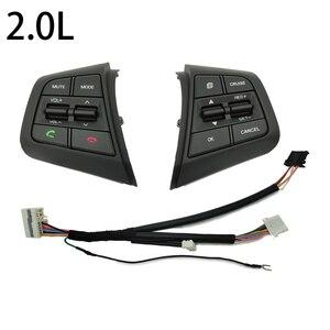 Image 5 - ステアリングホイールクルーズコントロールボタンスイッチ現代creta Ix25 1.6L 2.0Lリモートコントロールボリュームボタン右側青色光